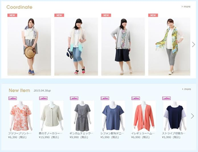 Plus Size Clothing in Japan - PLAZA HOMES